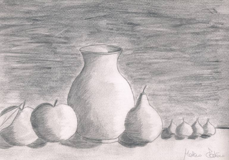 """Drawn vase dead nature Gallery; Saatchi Drawing Dead"""" """"Nature"""