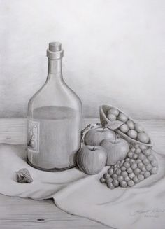 Drawn vase dead nature Life Ting drawings Chua by