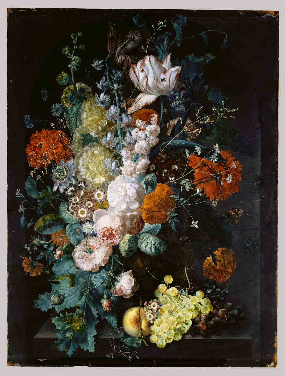 Drawn vase dead nature Flowers Northern Still Painting Life