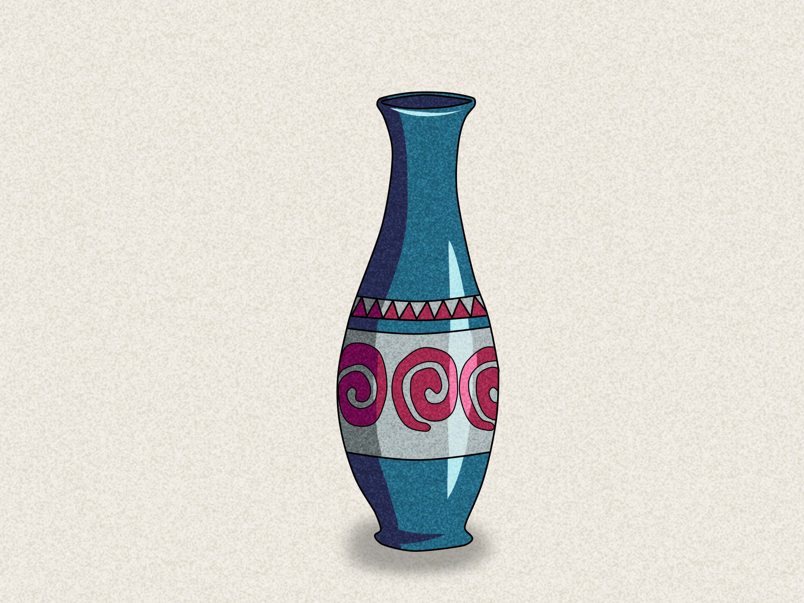 Drawn vase easy WikiHow a Draw to Steps