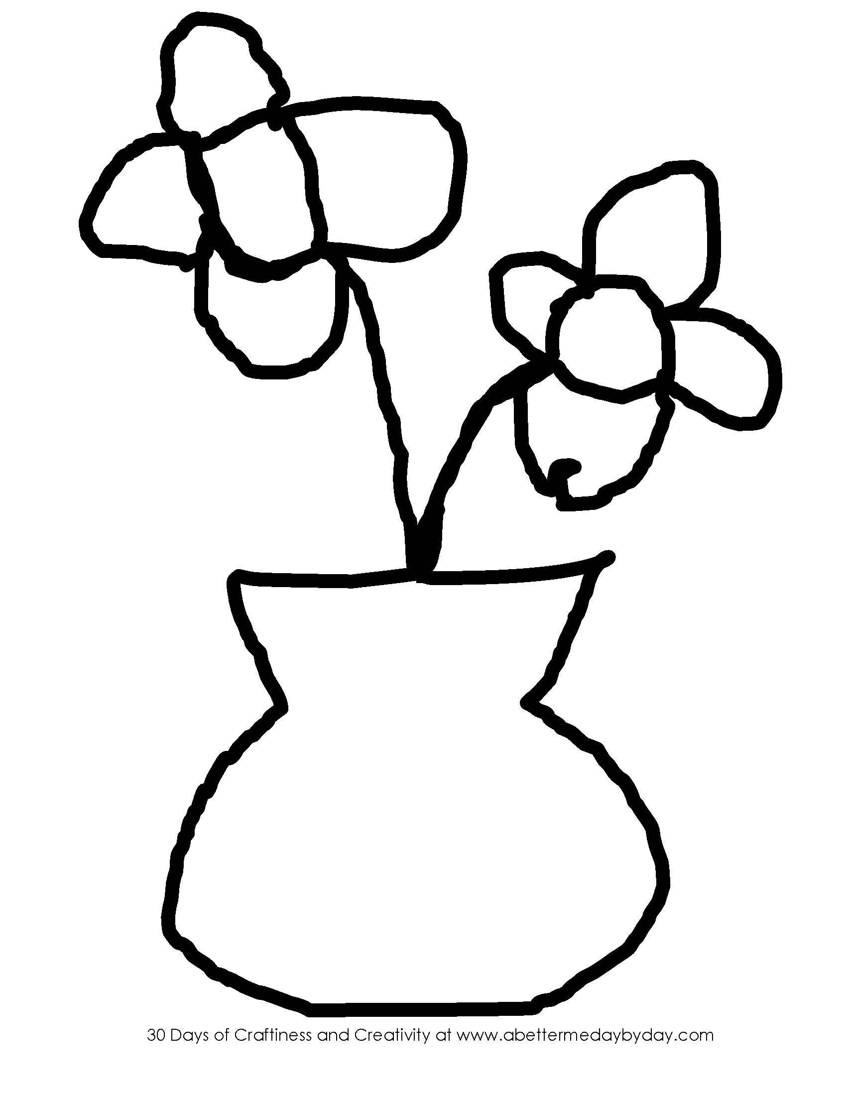 Drawn vase easy Flowers Drawings Vase Flower Easy
