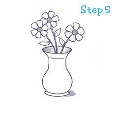 Drawn vase easy Hobson drawing Drawing Vase by