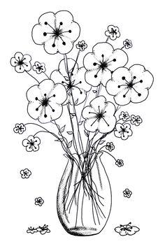 Drawn vase easy Decor/ Home Lantern/ art/ Flower