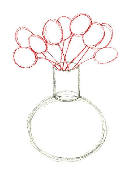 Drawn rose vase drawing Images a draw on How