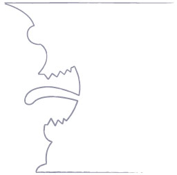 Drawn vase face Monster Draw lines the of