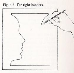 Drawn vase face Face Contour Drawing Class Line