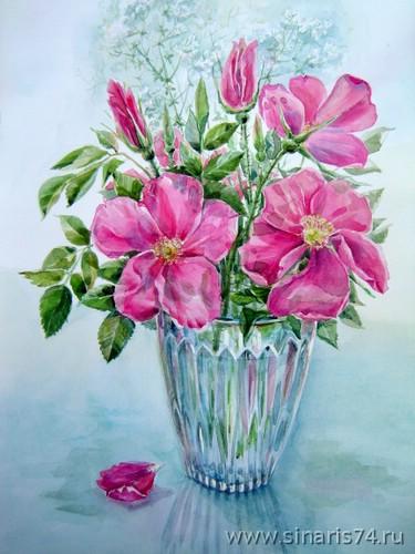 Drawn vase flower bouquet Vase vase watercolor bouquet drawing