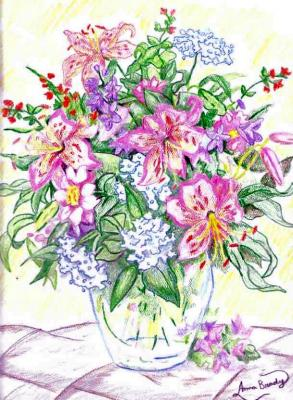 Drawn vase flower bouquet Flowers Vase Drawings of A