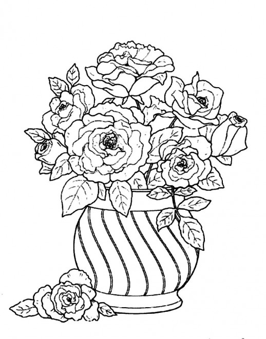 Drawn vase flower bouquet Beautify A Round Pages Vase