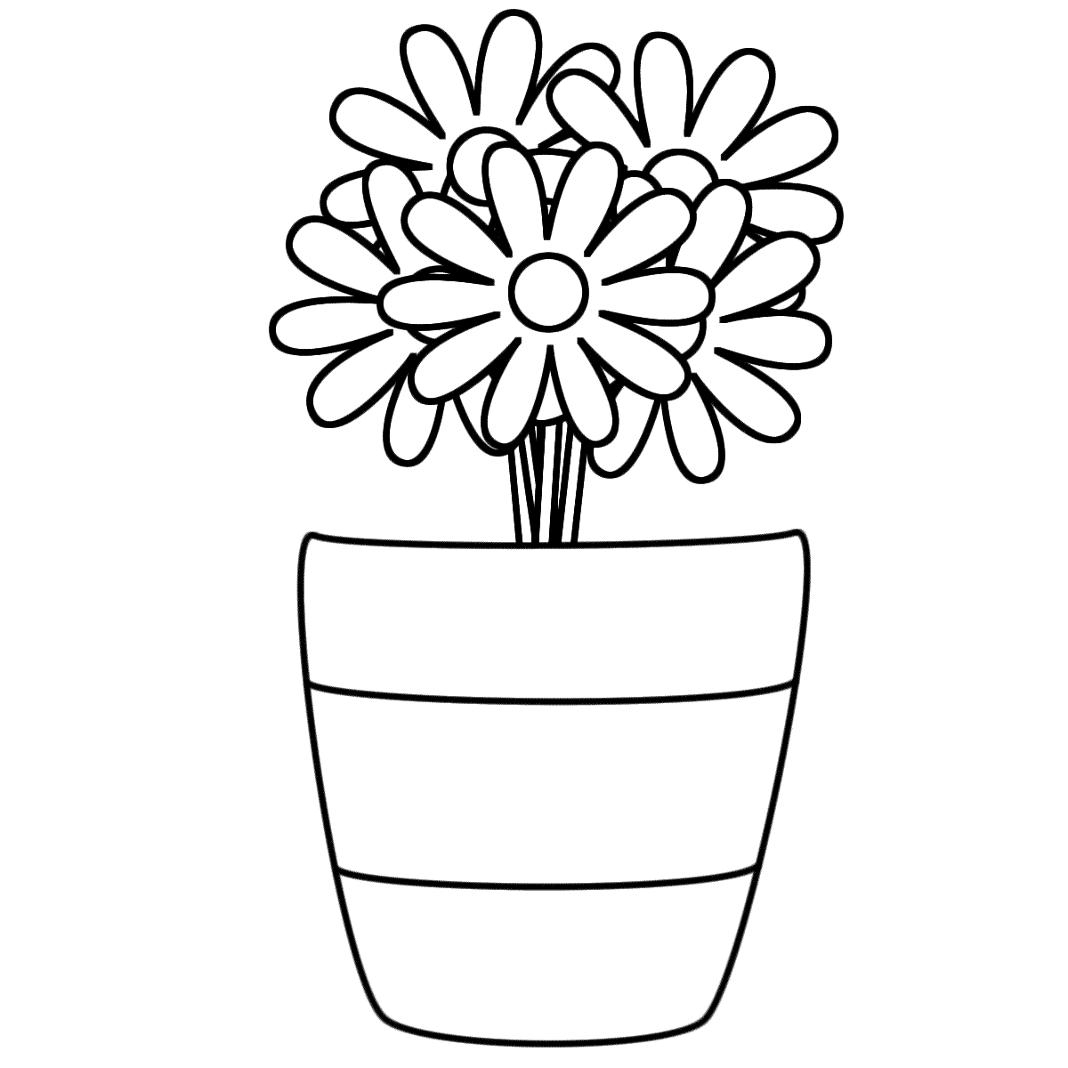Drawn vase flower coloring page With Flowers in Page coloring