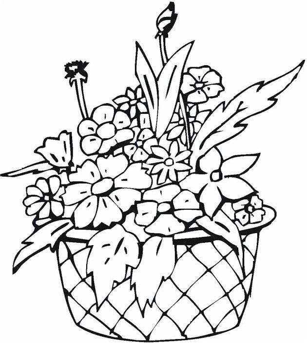 Drawn vase flower coloring page 288 Pottery Coloring about Coloring