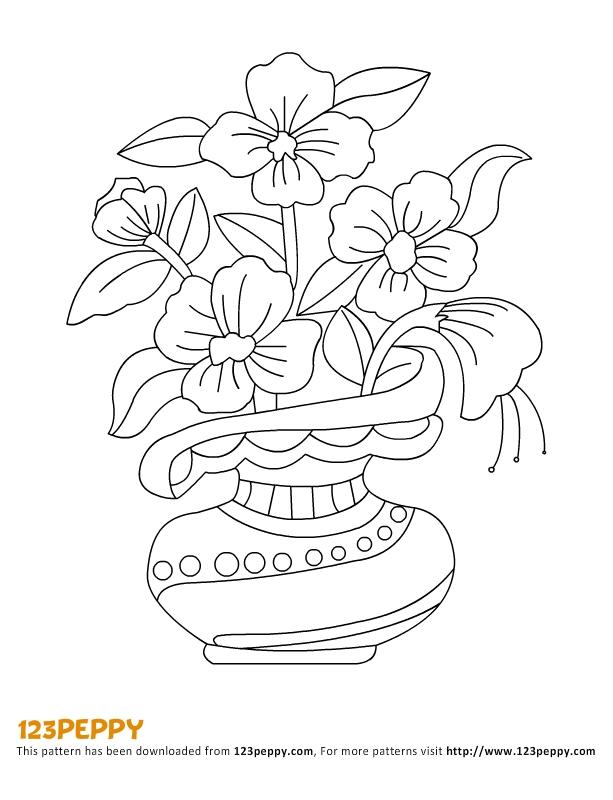Drawn vase flower vase · Drawing Sketch Pencil sketching