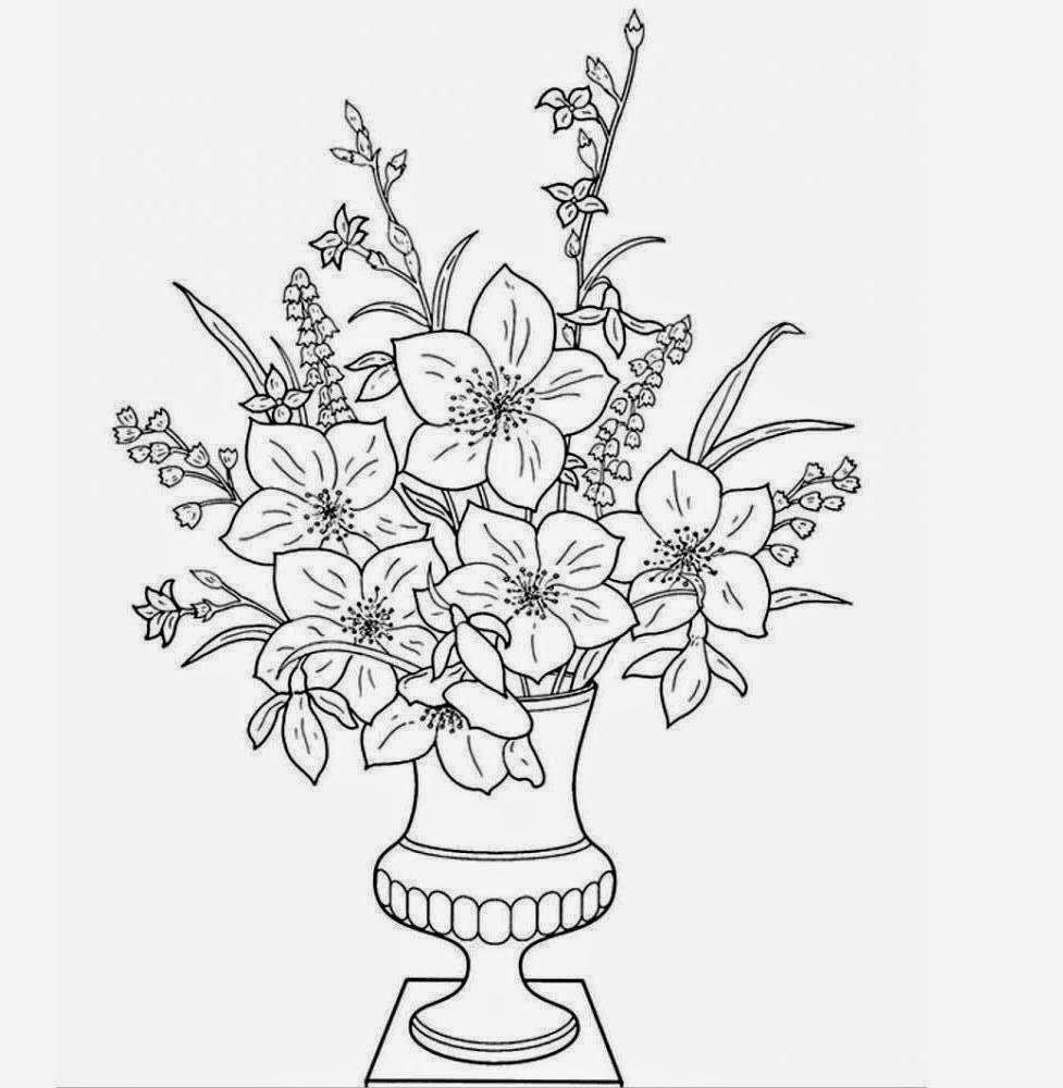 Drawn vase flower vase In How Flower A Flower