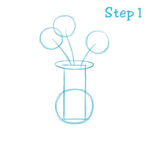 Drawn vase flower vase How How Vase 1 Vase