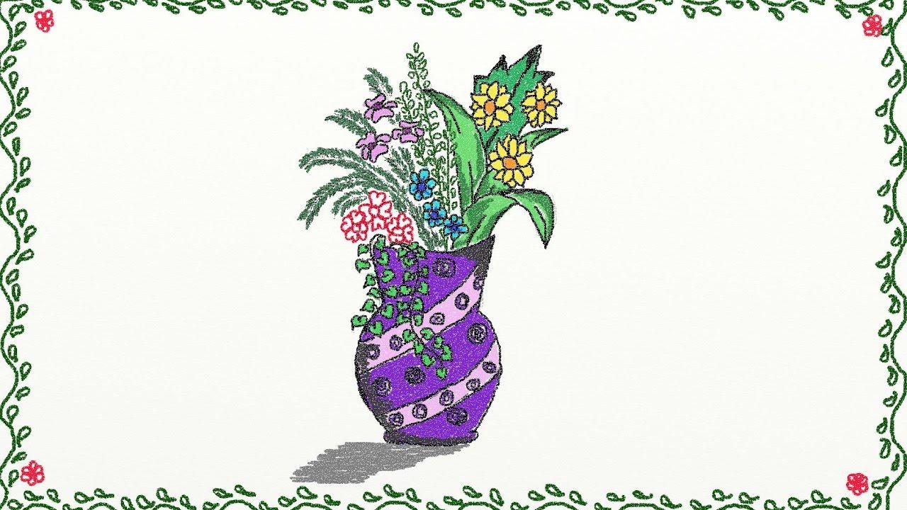 Drawn vase flower vase How draw Drawing vase vase