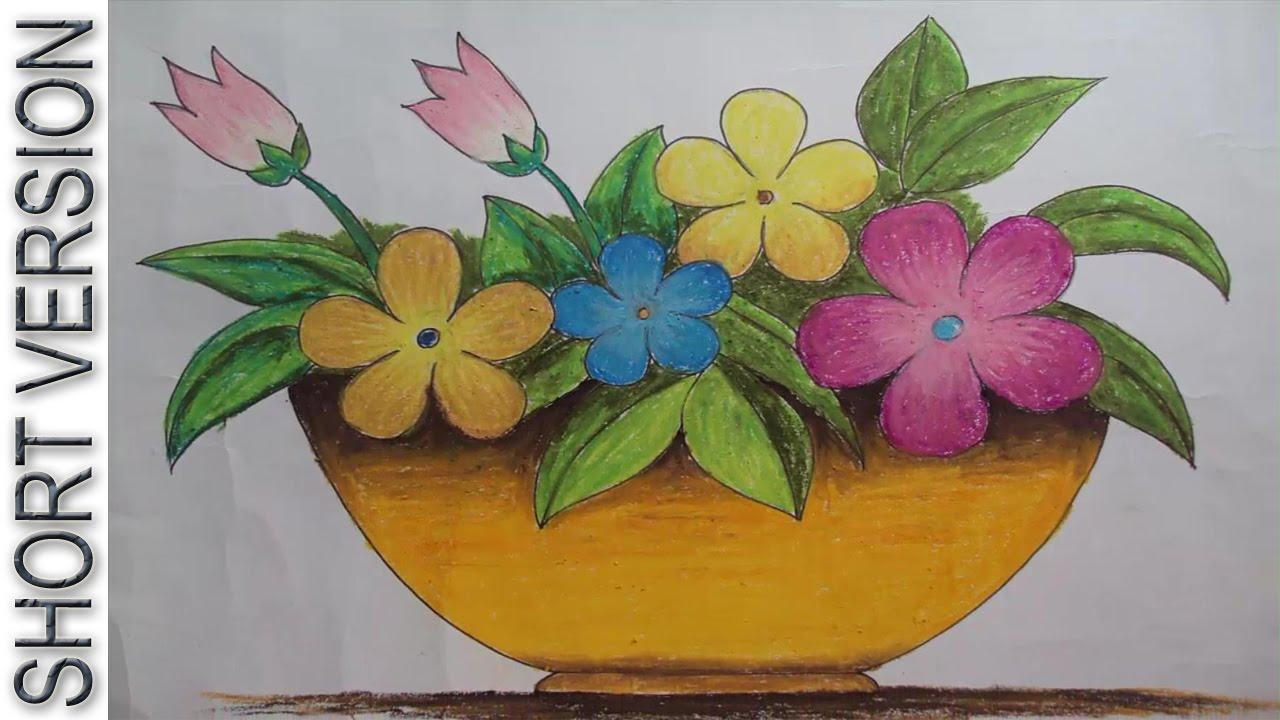 Drawn vase flower vase Flower  Draw a [Short