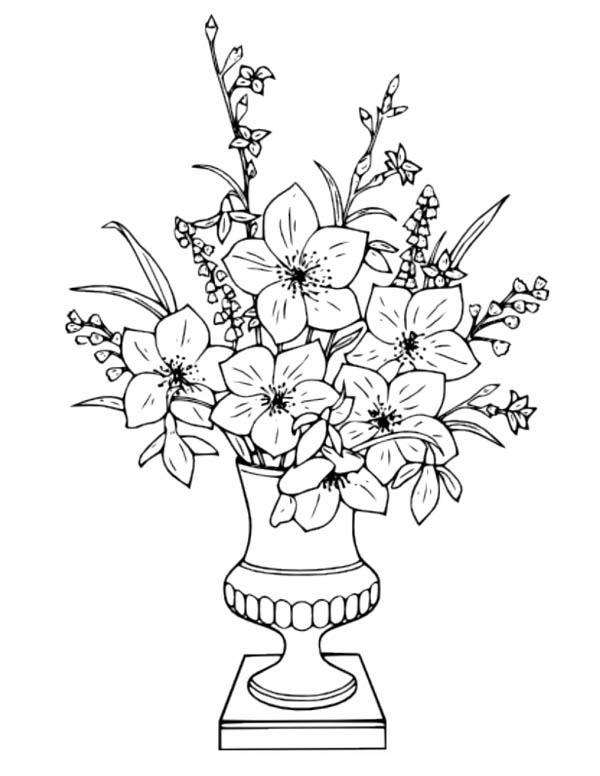 Drawn vase full flower Flower Vase Flower Vase Flower