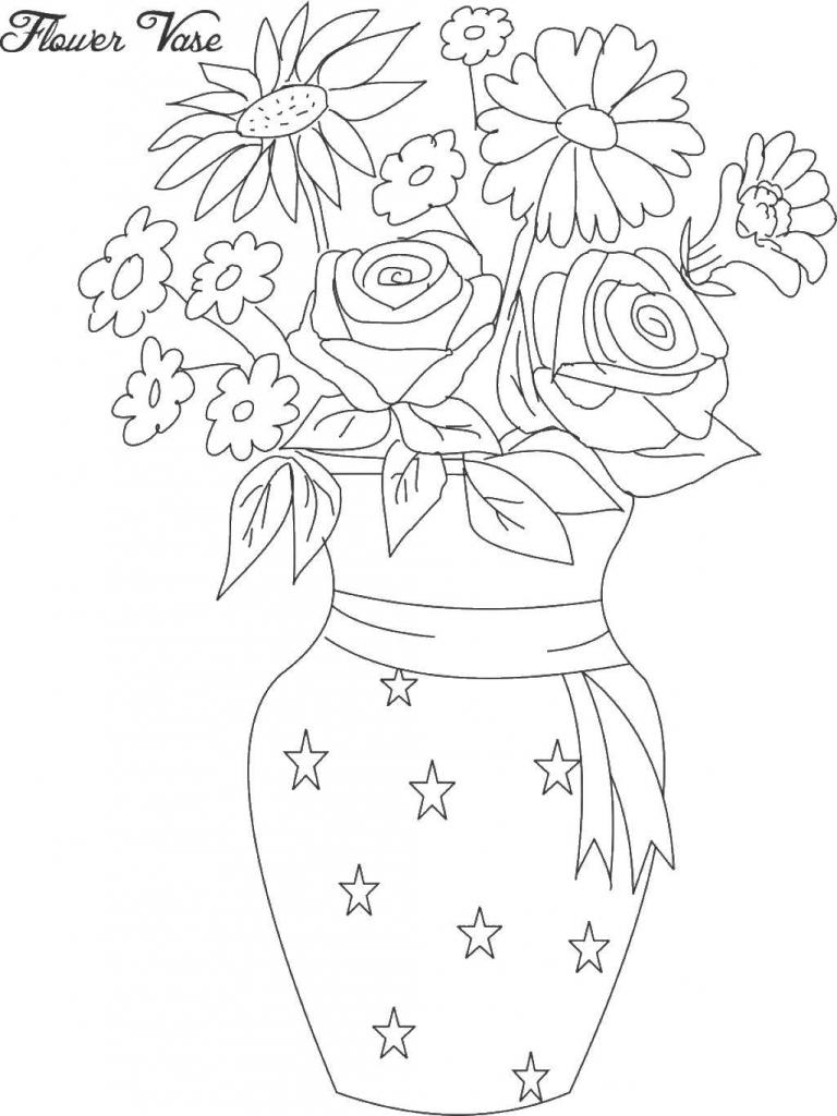 Drawn vase full flower  Flower Draw Flower Flower