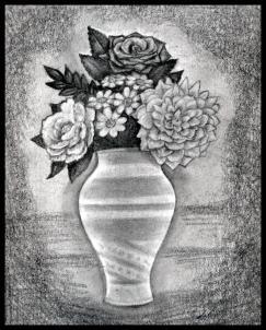 Drawn vase full flower How step Flowers draw Step