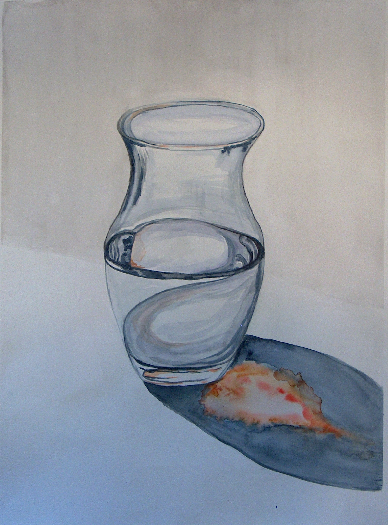 Drawn glass glass vase Eclipses glass a vase such