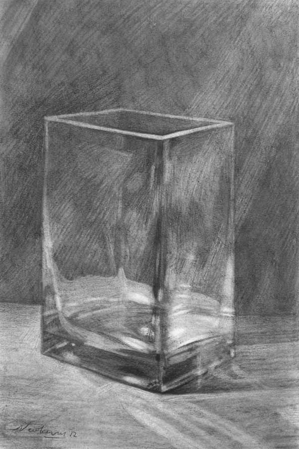 Drawn vase glass vase 9 (pinboard3) Find graphite and