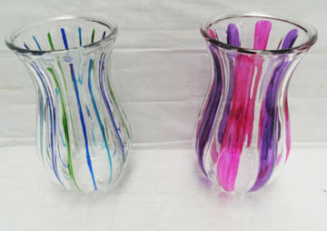 Drawn glass glass vase On Hand Glass  drawing