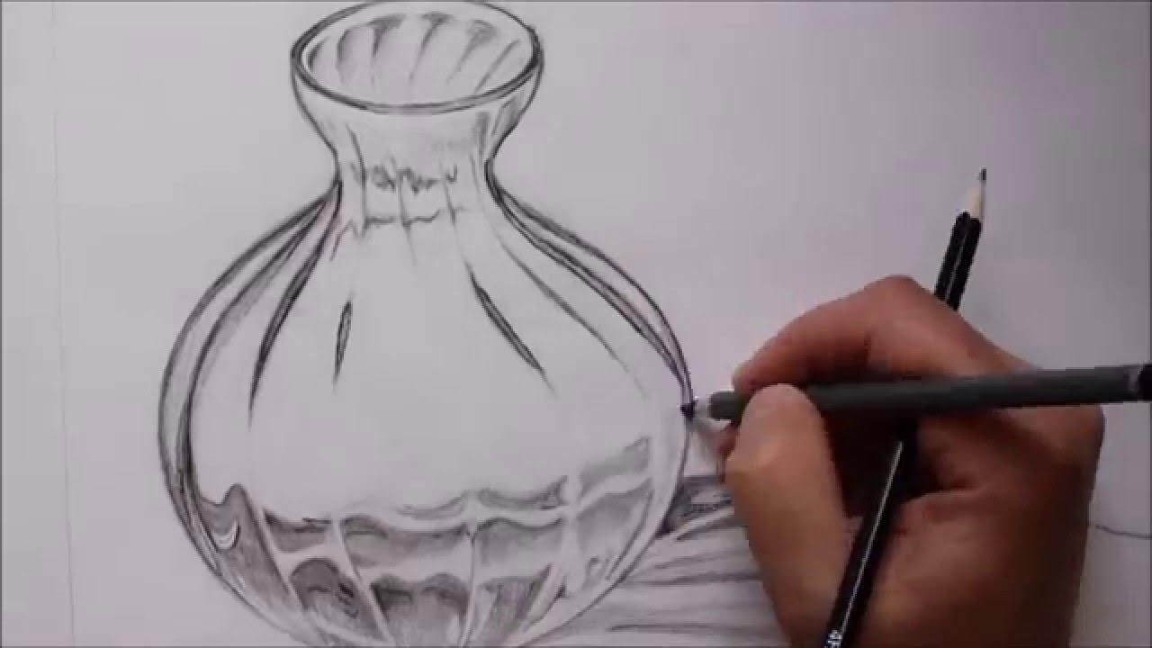 Drawn glass glass vase Glass (Non YouTube Drawing Time