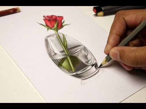 Drawn vase glass vase Speed Vase Drawing Vase Speed