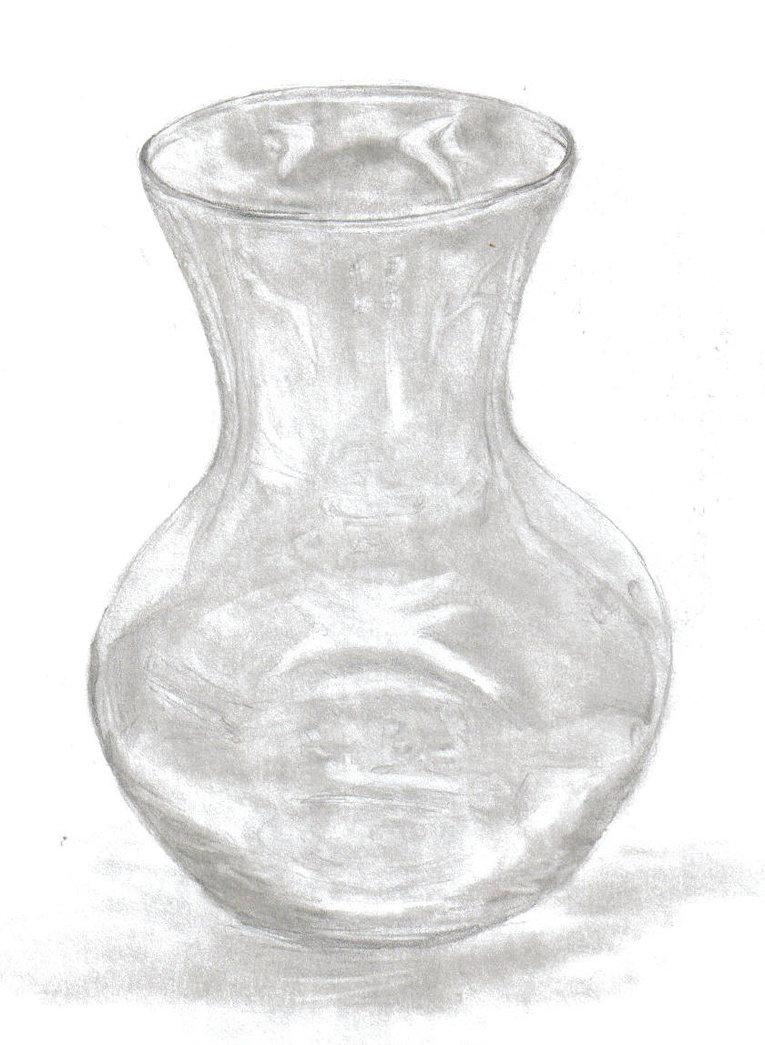 Drawn vase glass vase  elastar DeviantArt on by