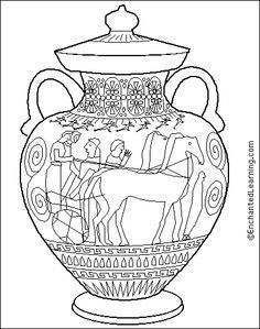 Drawn vase greek pottery Greece shapes Pinterest GREEK Google