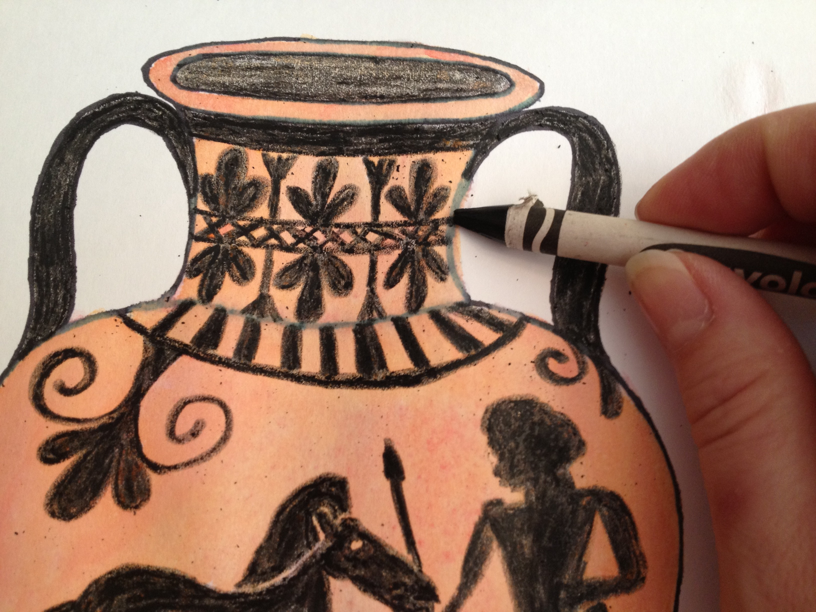 Drawn vase greek pottery Up The Nest Vases! Swan's