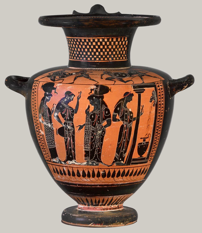 Drawn vase greek pottery Terracotta Figure  Essay Vase