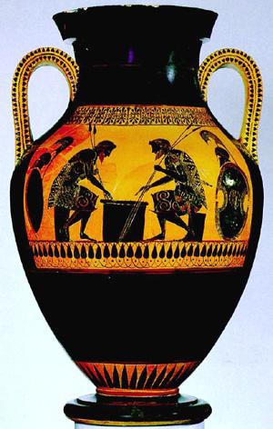 Drawn vase greek pottery Of Oetken's into GREEK! Going