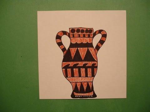 Drawn vase greek vase A Let's Draw Let's Greek