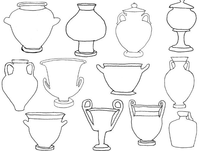 Drawn vase greek vase Art vase Project Greek Ancient