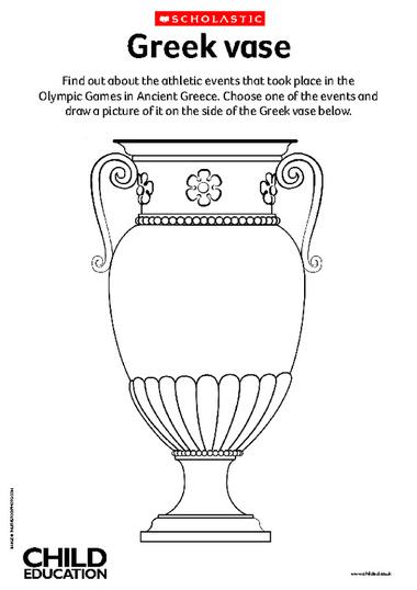 Drawn vase greek vase Teaching Decorate – vase KS2