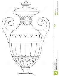 Drawn vase greek vase Shapes greek  vase greek