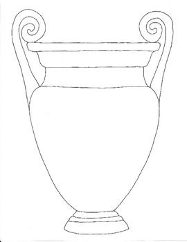 Drawn vase greek vase Pattern Vase Chang'e Samples Patterns