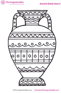 Drawn vase greek vase With ancient Color vase amphorae