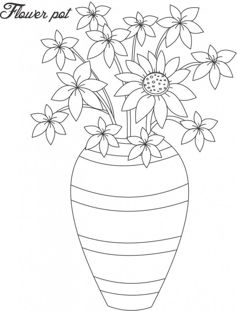 Drawn vase line drawing Pic Flower  Line