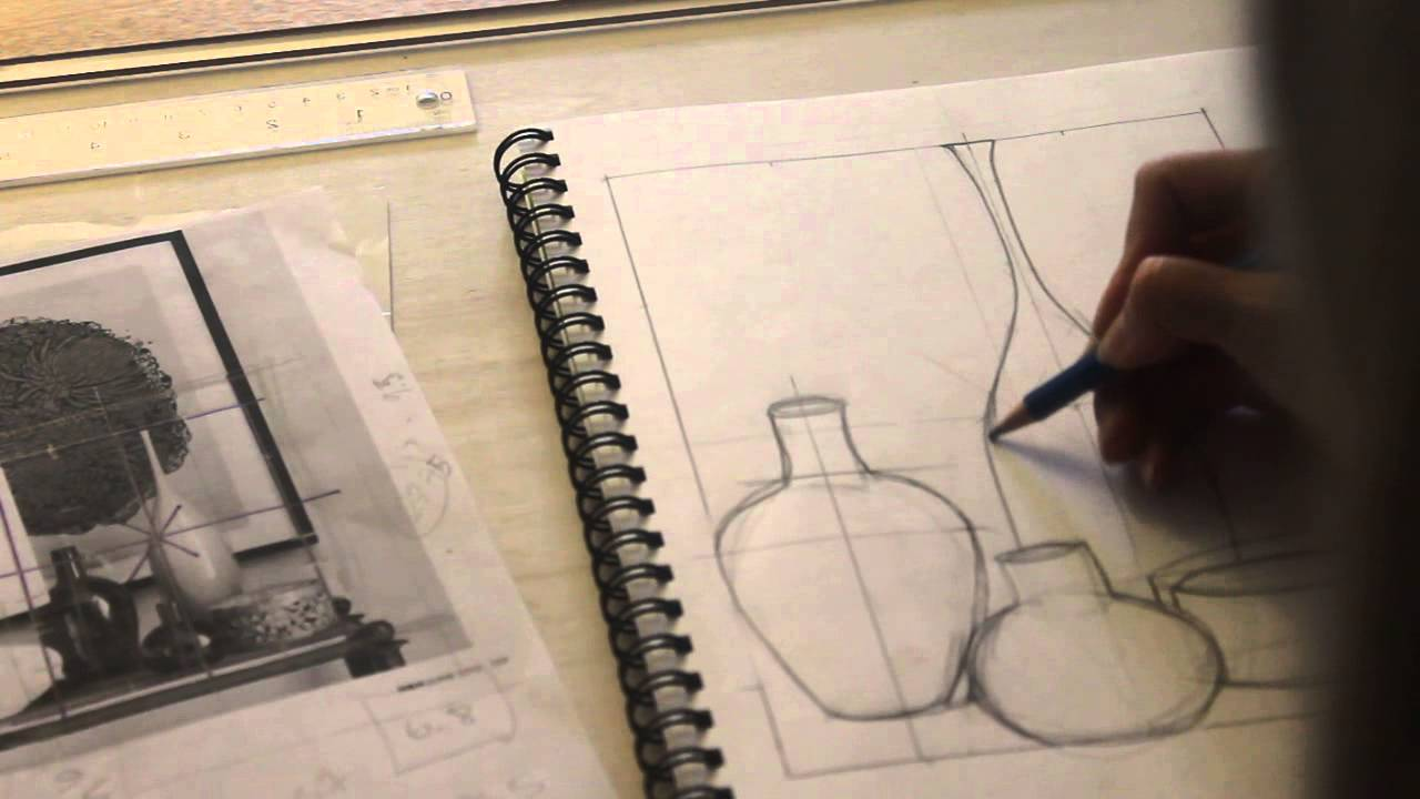 Drawn vase line drawing Vases Vases How Balanced YouTube