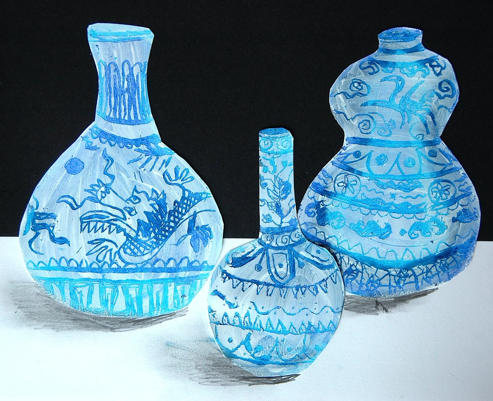 Drawn vase ming vase Covered various Vases with covered