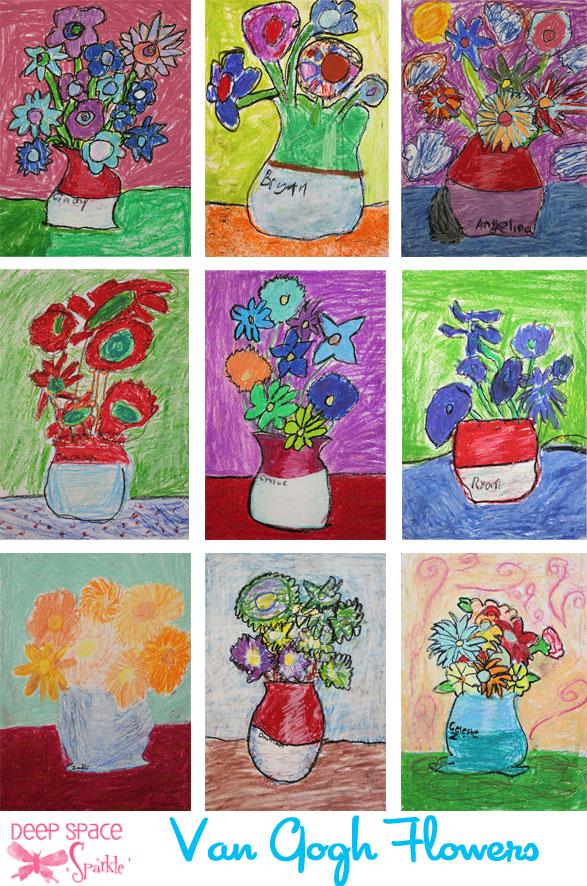 Drawn vase one DONE Pastel PASTELS Sunflower Lesson