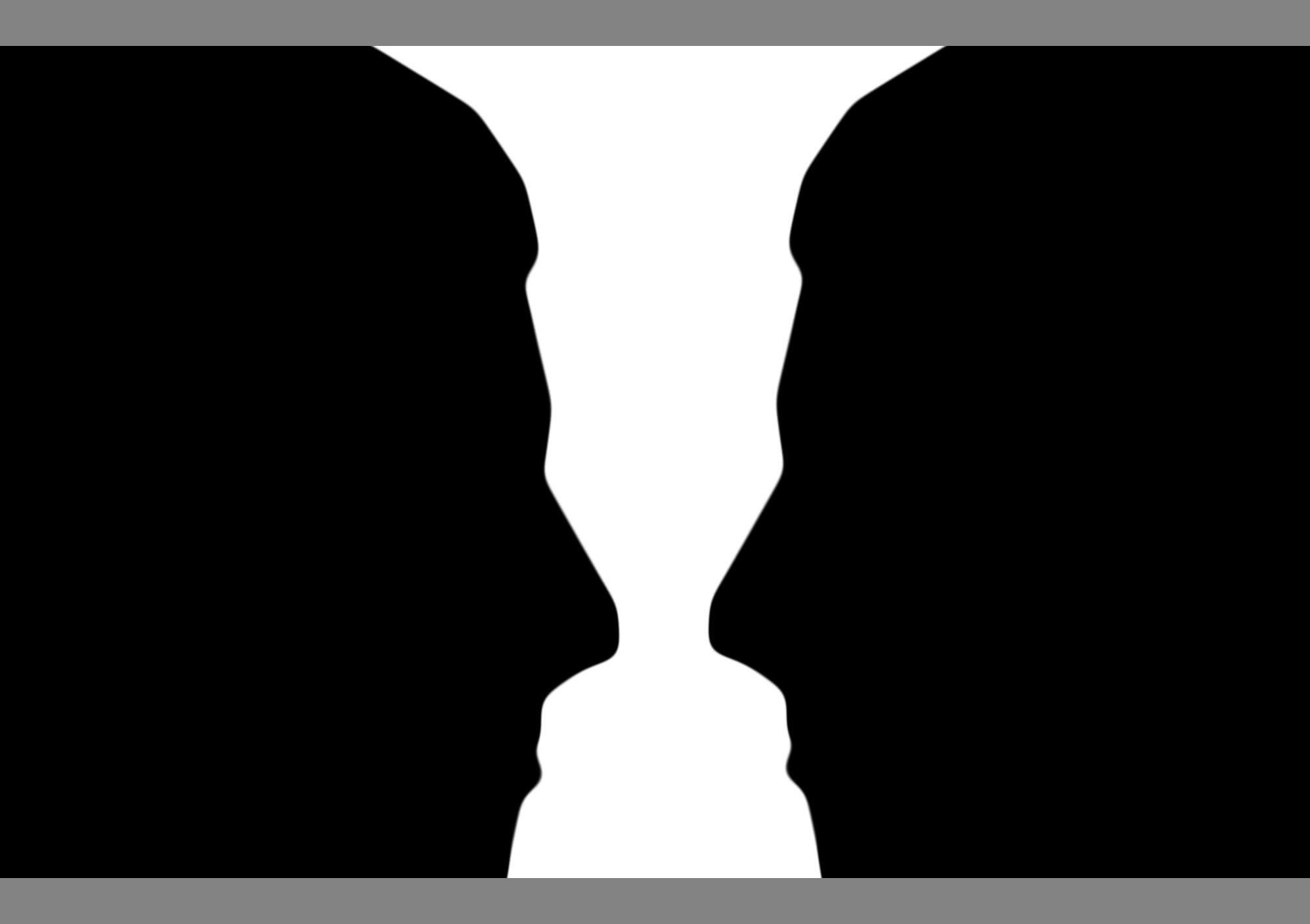Drawn vase optical illusion Illusion vase figure ground or