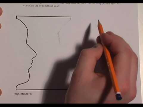 Drawn vase optical illusion Vase YouTube Faces Vase Faces