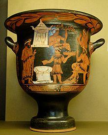 Drawn vase painting Circa painting by Wikipedia Sacrifice