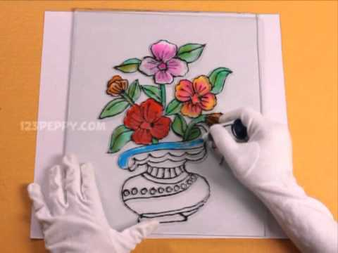 Drawn rose glass vase Vase YouTube Flower Vase Flower