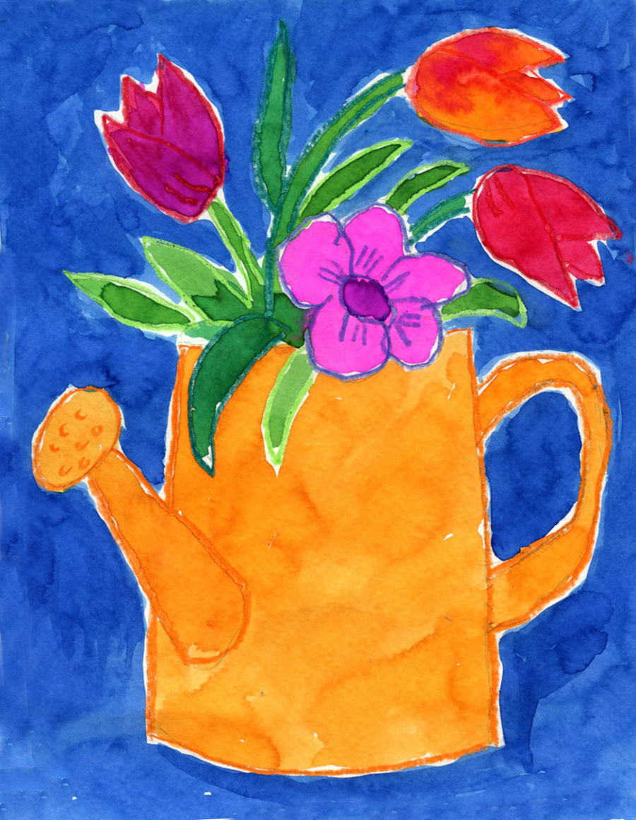 Drawn vase painting And Can Find Flowers Kids: