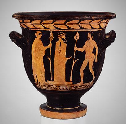 Drawn vase painting  Five Terracotta Heilbrunn Italian