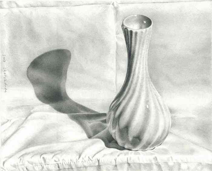Drawn vase pencil drawing Drawings Drawing twisted sketch Gardens